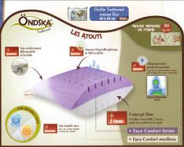 oreiller ergonomique ondska Oreillers à mémoire de forme oreiller ergonomique ondska